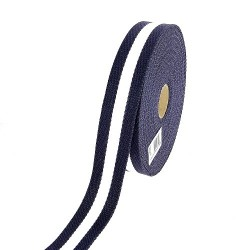 Sangle coton bleue / Ecrue