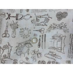 Tissu couture by Dan MORRIS couture vintage fond crème