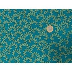 Tissu Robert KAUFMAN «Florentine garden celadon doré