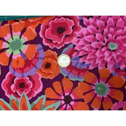 Tissu Kaffe Fassett Collective Rose/orange/prune