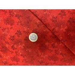 Tissu collection Printemps, Faux uni  CORAIL FONCE