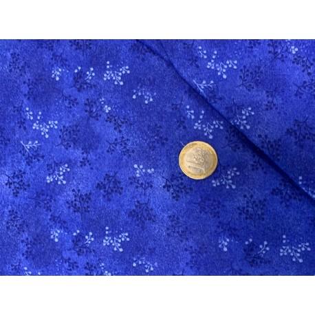 Tissu collection Printemps, Faux uni BLEU NUIT ETOILEE