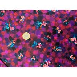Tissu japonais kaufmann Bright Side Prune