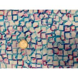 Tissu japonais kaufmann Bright Side BLANC ET COLOR2