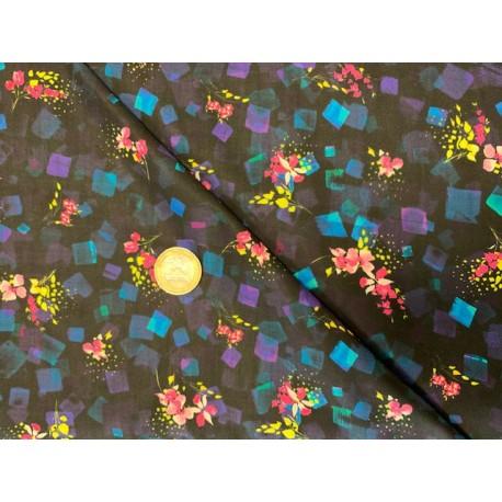 Tissu japonais kaufmann Bright Side NOIR ET COLOR2