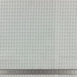 Tissu en éponge nid d'abeille coton bio GRIS