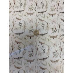 Tissu POPELINE Imprimée Papillons nature