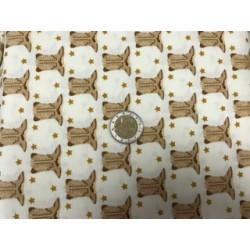 Tissu Moda collection motifs bottes