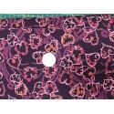 Tissu Lyberty motifs entrelacs coeur