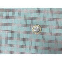 Tissu Moda motifs carreaux rouge et bleu