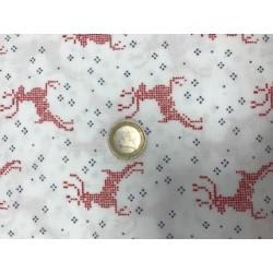 Tissu noel moda collection nordic stiches motifs rennes