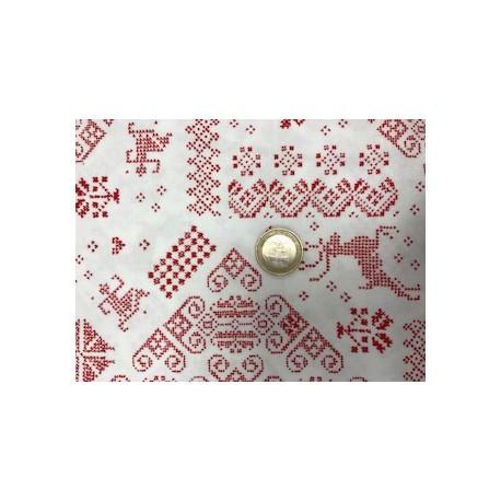 Tissu noel moda collection nordic stiches motifs rennes 2