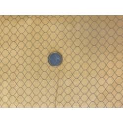 Tissu Moda Motif géométrique gris sur fond jaune vintage