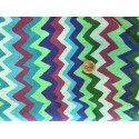 Tissus Kaffe Fasset motifs Vagues pointues tonds bleu violet et prune