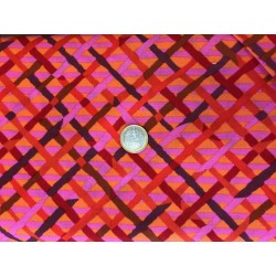 Tissus Kaffe Fasset motifs géométrique orange rose et marron