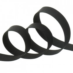 elastique cotelé noir 10 mm