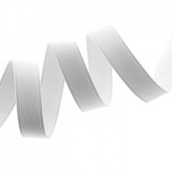 elastique cotelé blanc 20 mm