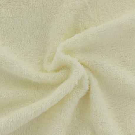 Tissu en éponge de bambou couleur taupe claire