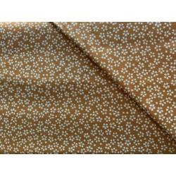 Tissu japonais coton lin moutarde