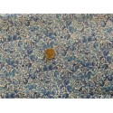Tissu japonais impérial bleu, beige doré