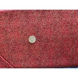 Tissu japonais impérial rouge profond
