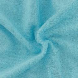 Tissu en éponge de bambou couleur turquoise