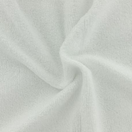Tissu en éponge de bambou Blanc