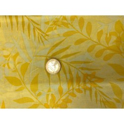 Tissu motifs fondus nature jaune