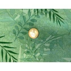 Tissu motifs fondus nature vert