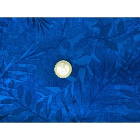 Tissu motifs fondus nature bleu