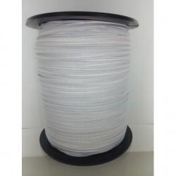 Tresse elastique 6 mm blanc