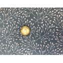 Tissu Stenzo Jersey fleurs banches sur fond bleu
