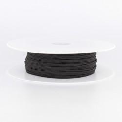 elastique souple  4 mm noir