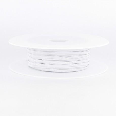 elastique souple  4 mm blanc