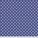 Tissu Free Spirit Tula Pink gros pois turquoises/ violet