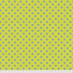 Tissu Free Spirit Tula Pink gros pois bleur sur jaune