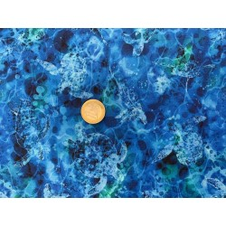 Tissu Reef by Oasis Fond marin Tortue